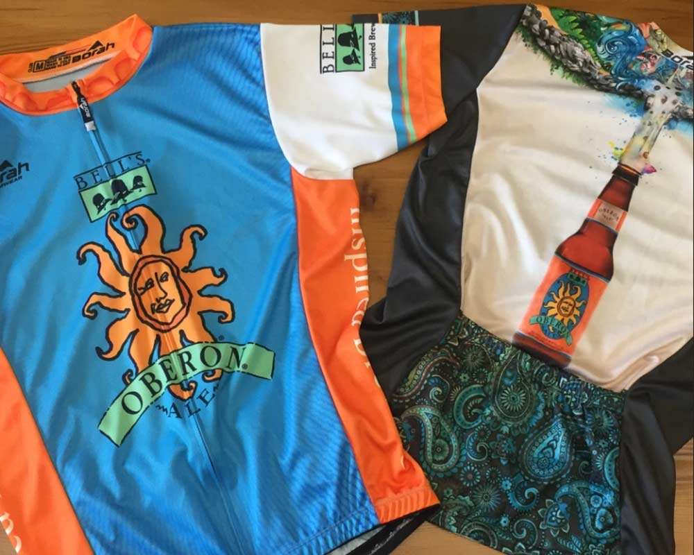 There's beer on your shirt!  Branding your brewery with custom bike jerseys.