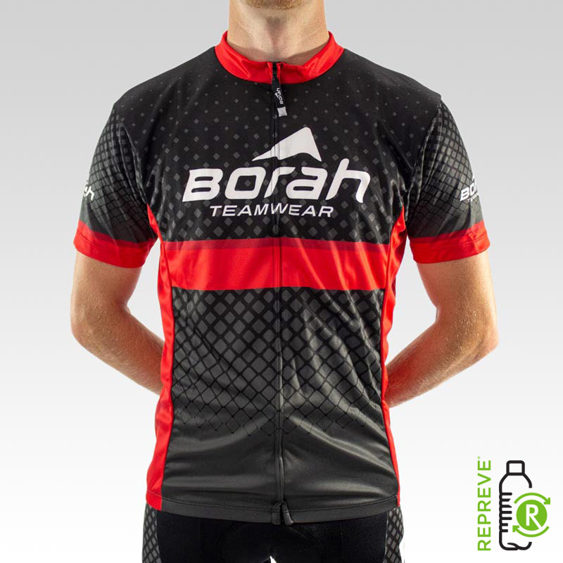 Team Club Cut Cycling Jersey Front with Repreve Logo