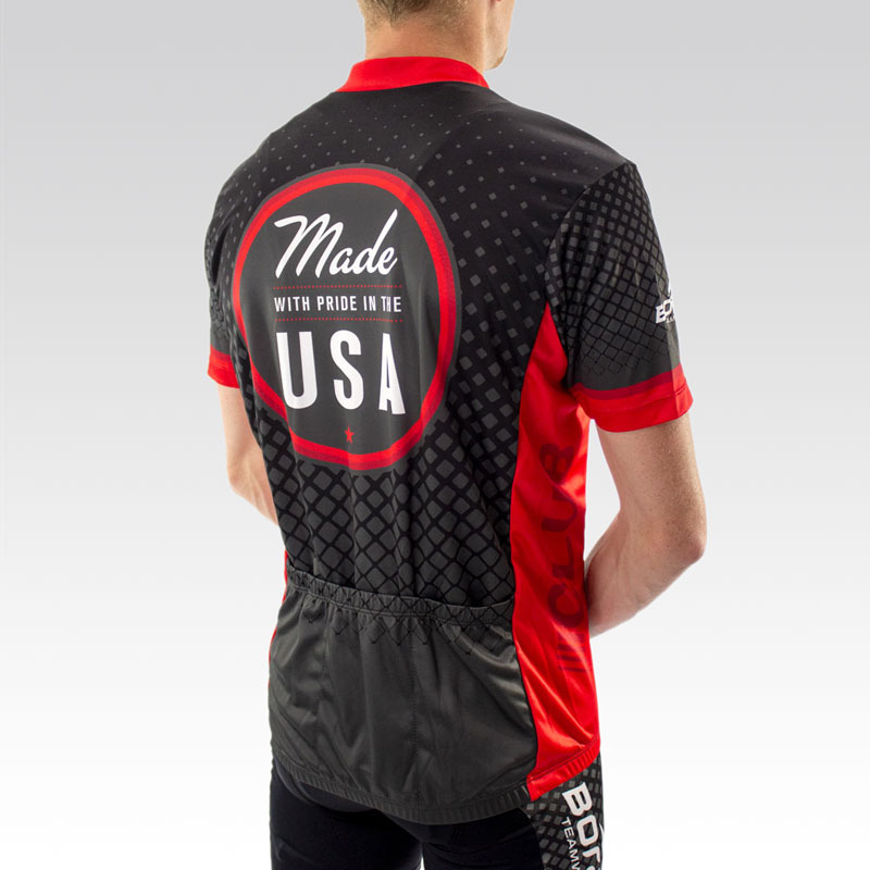Team Club Cut Cycling Jersey - Back 3 Qtr