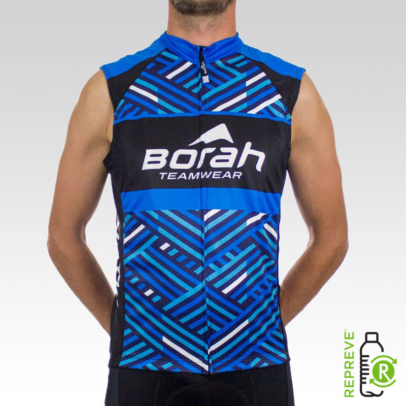 Team Sleeveless Cycling Jersey Front with Repreve Logo