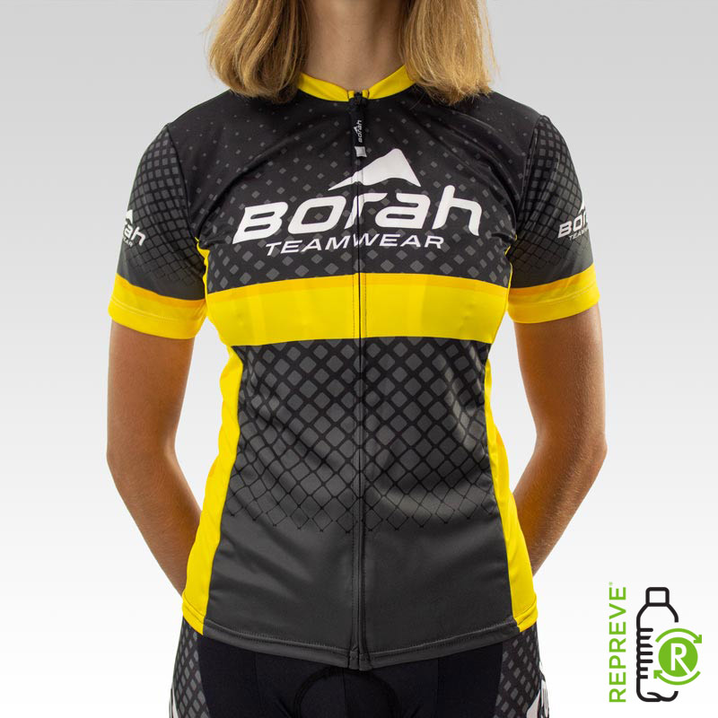 Women's Team Club Cut Cycling Jersey Front with Repreve Logo