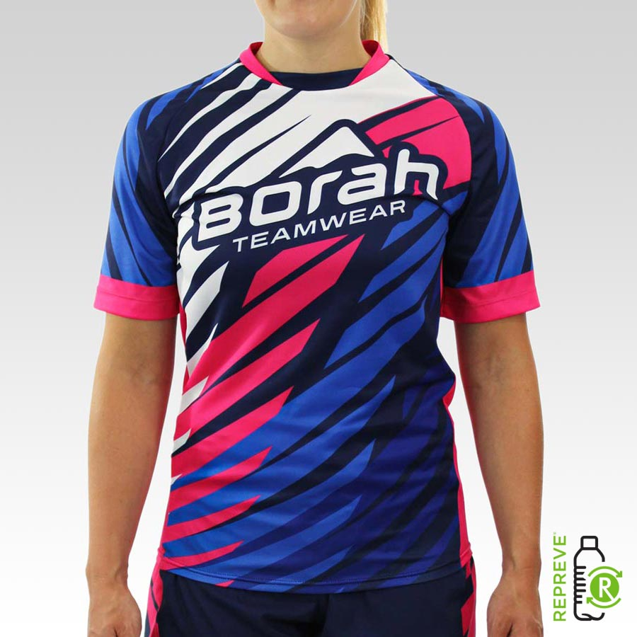 Women's Team Freeride MTB Jersey Front with Repreve Logo