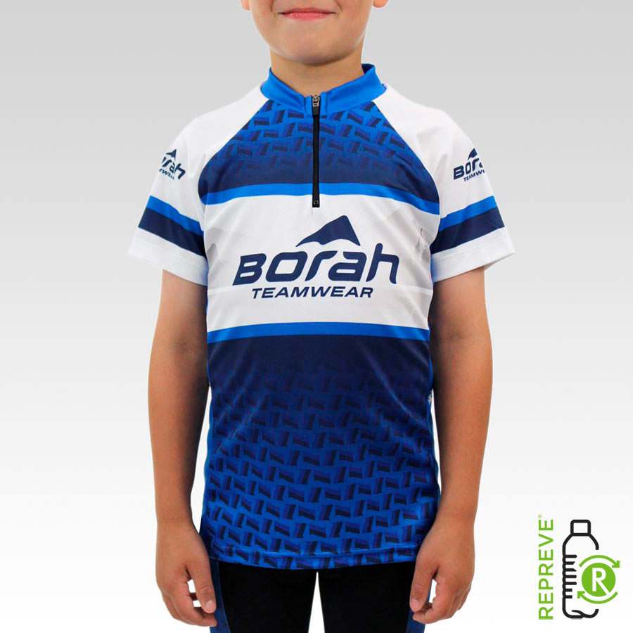 Youth Team Cycling Jersey Front with Repreve Logo