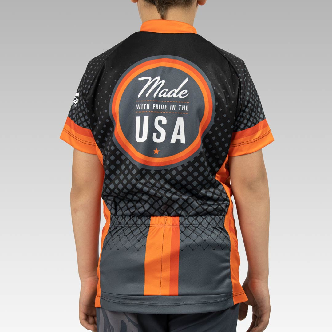 Youth Team Cycling Jersey Back View