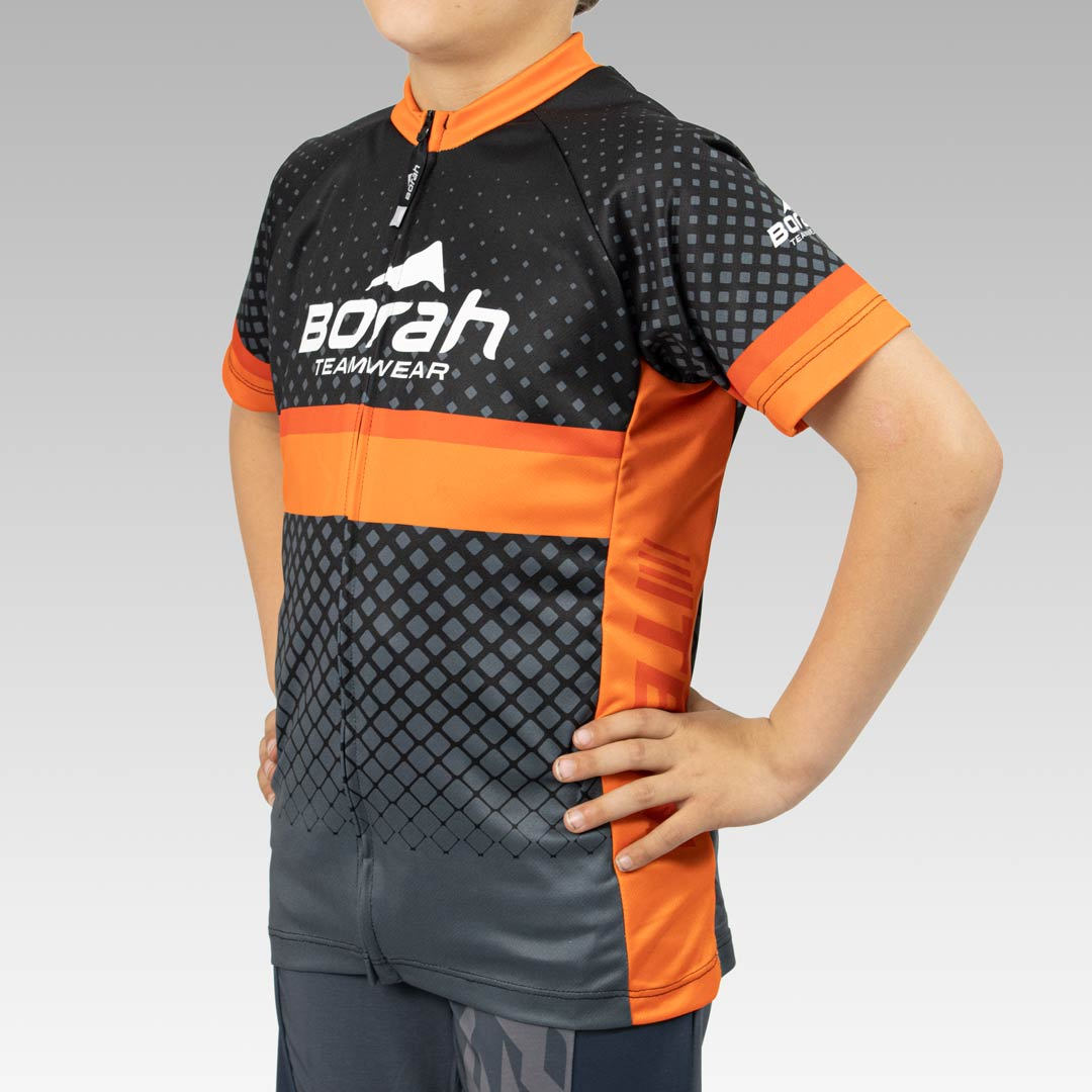 Youth Team Cycling Jersey 3/4 View