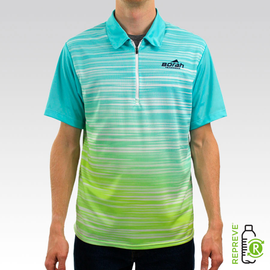 Custom Polo Shirt Front with Repreve Logo