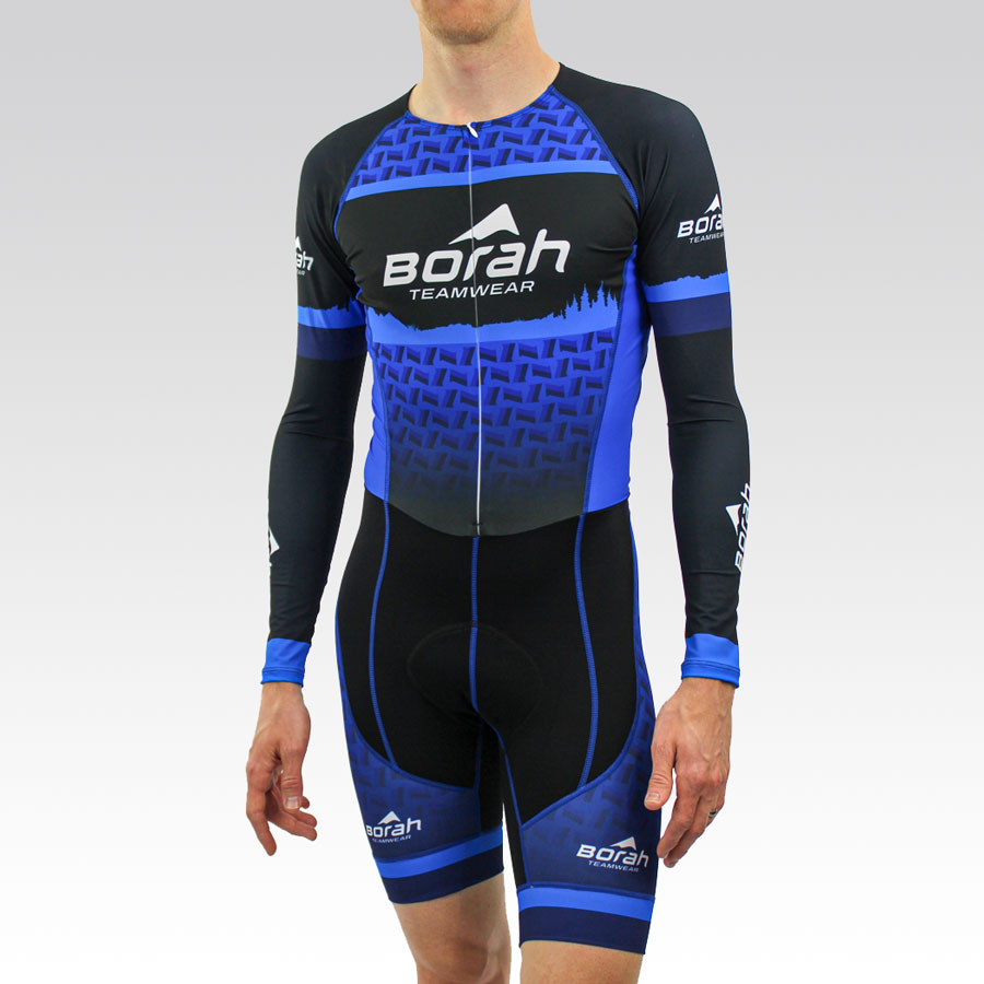 Pro Long Sleeve Cycling Skin Suit Gallery1