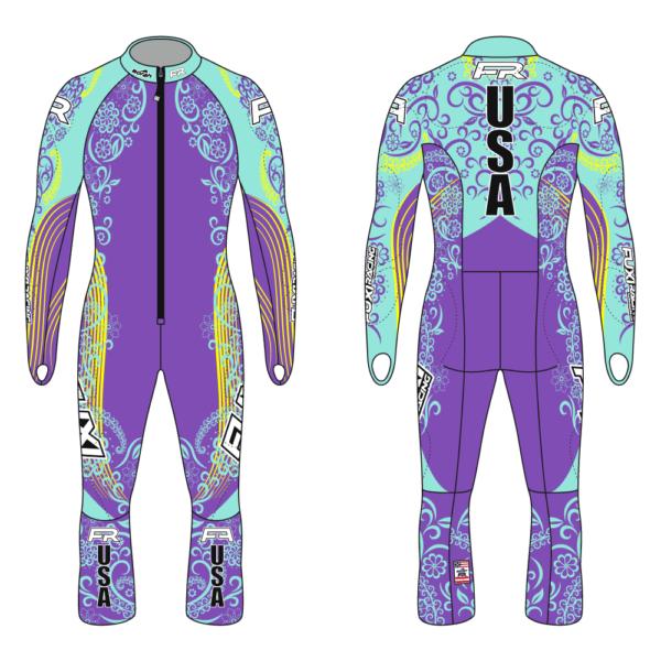 Fuxi Alpine Race Suit - Floral Design2