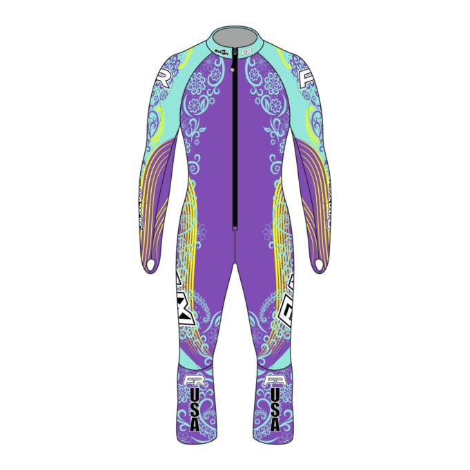Fuxi Alpine Race Suit - Floral Design