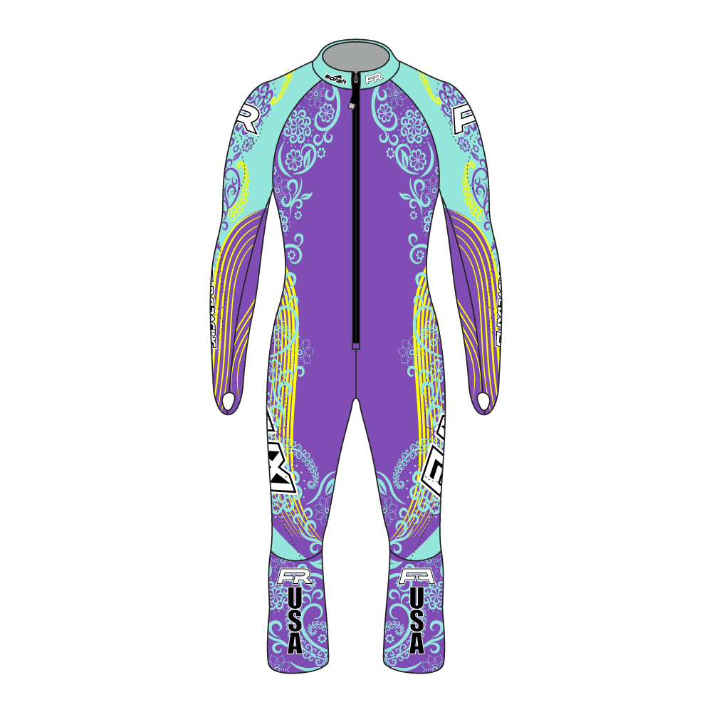 Fuxi Alpine Race Suit - Floral Design