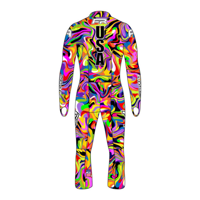 Fuxi Alpine Race Suit - Psychedelic Design2