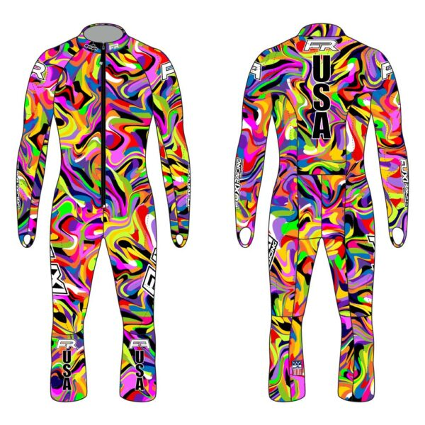 Fuxi Alpine Race Suit - Psychedelic Design3