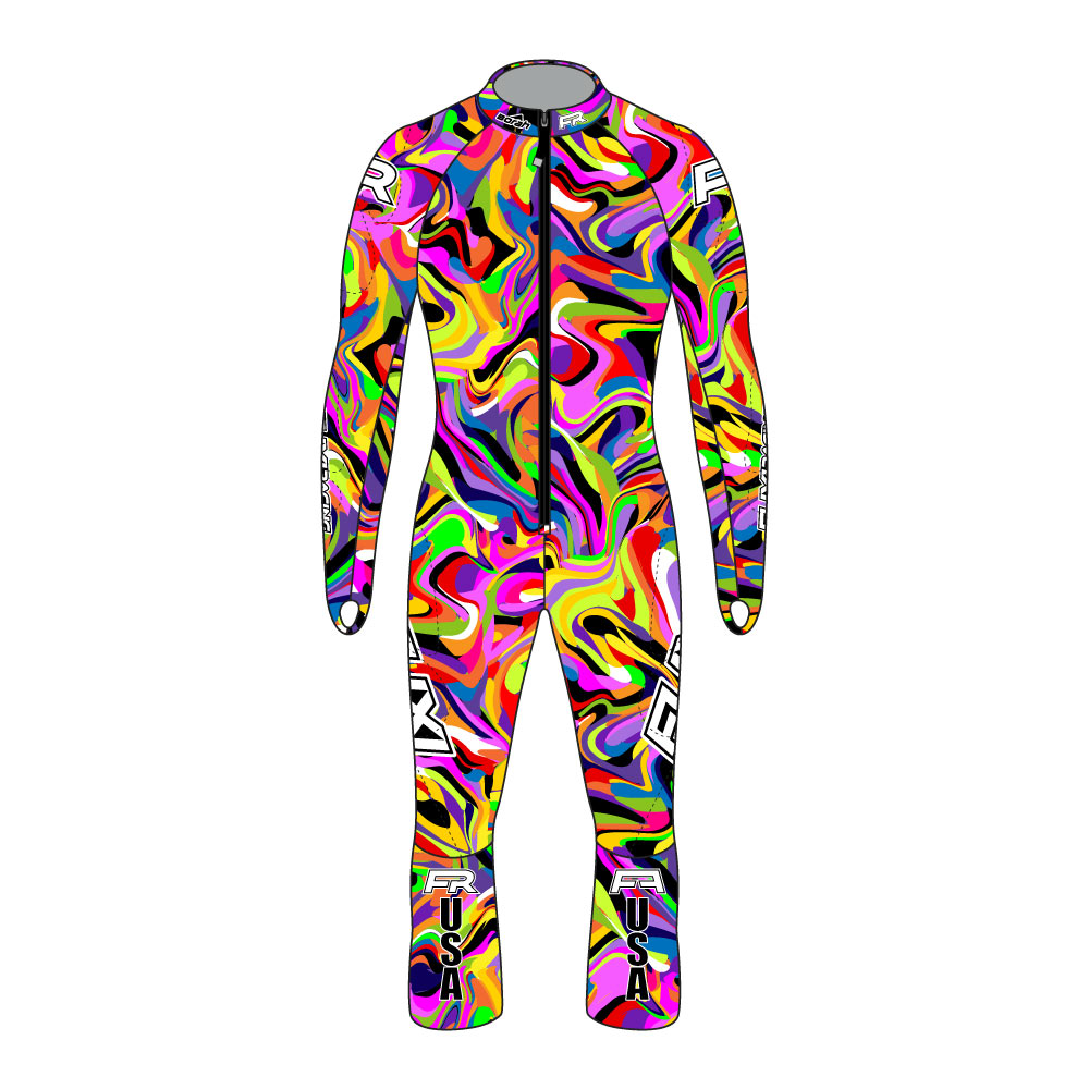 Fuxi Alpine Race Suit - Psychedelic Design