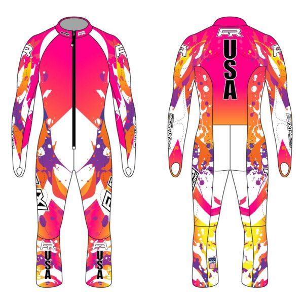 Fuxi Alpine Race Suit - Splash Design3