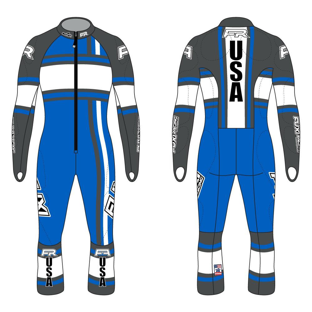 Fuxi Alpine Race Suit - Whiteout Design2