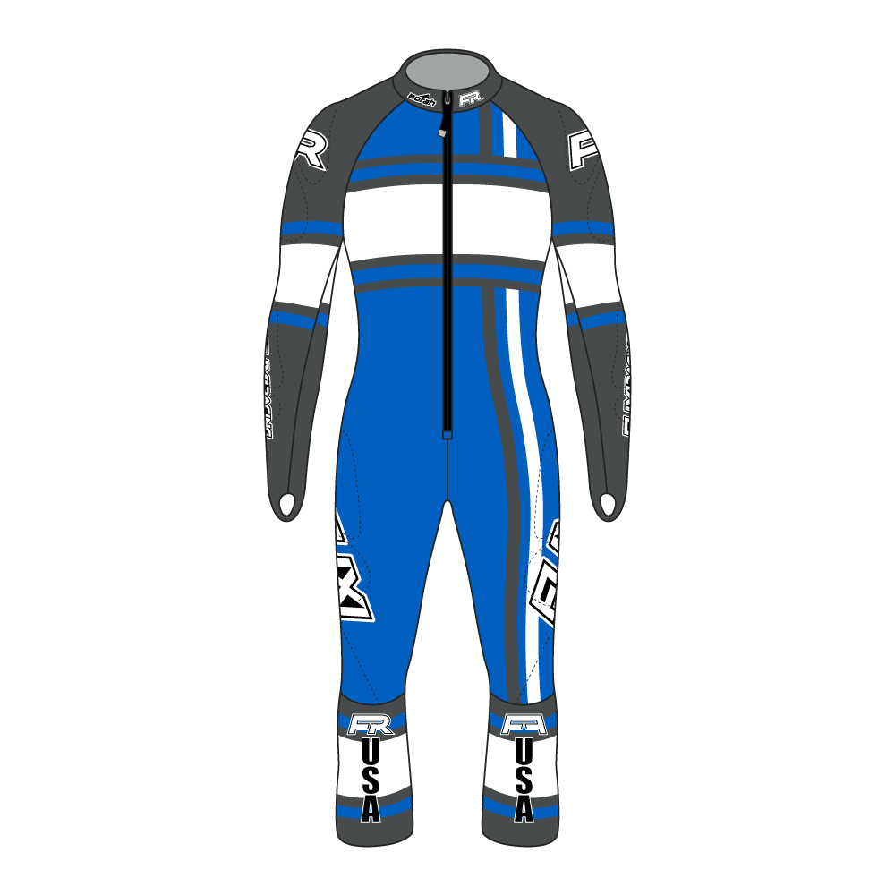 Fuxi Alpine Race Suit - Whiteout Design
