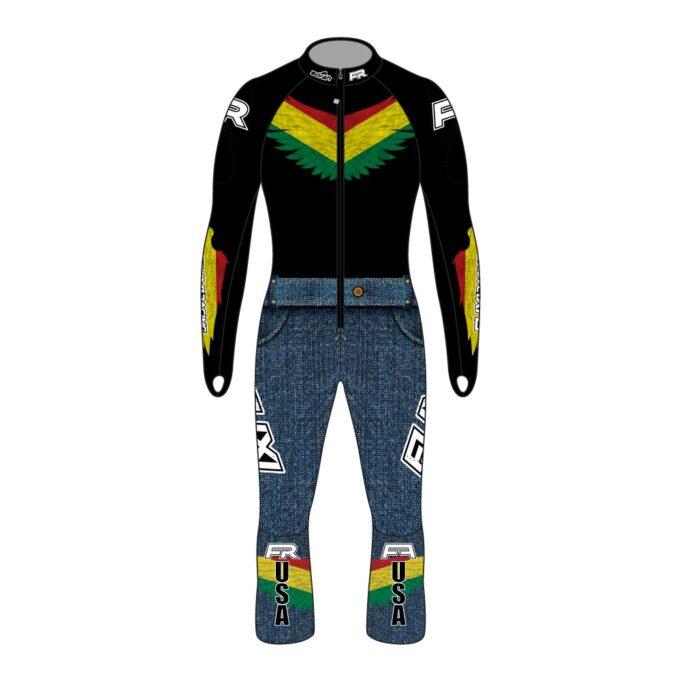 Fuxi Alpine Race Suit - Bolivian Wolf Design