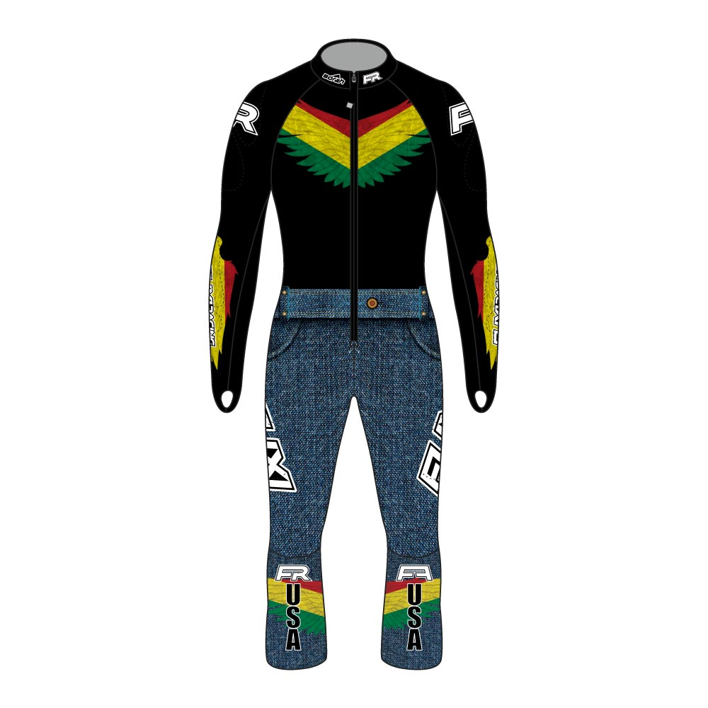 Fuxi Alpine Race Suit - Bolivian Wolf Design