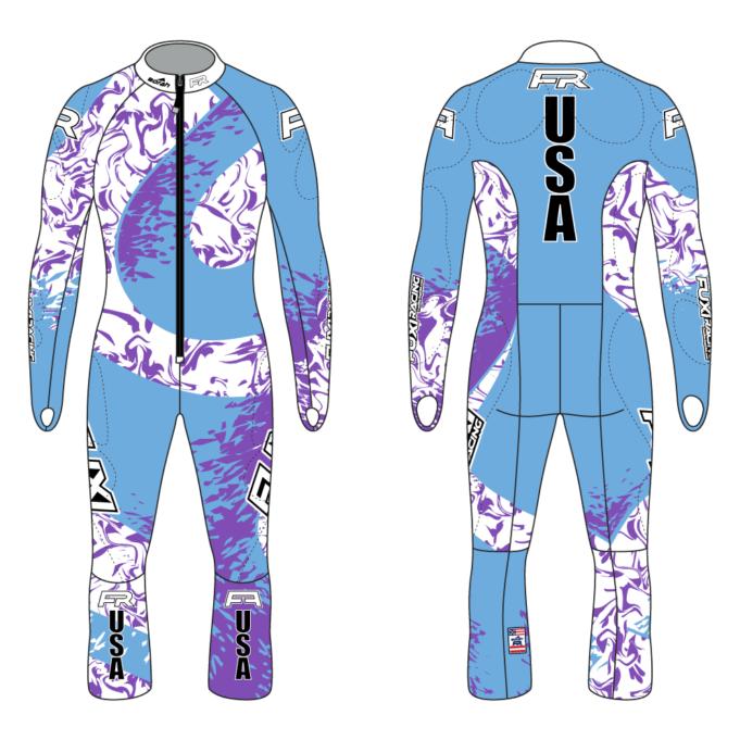 Fuxi Alpine Race Suit - Champion Design Front and Back