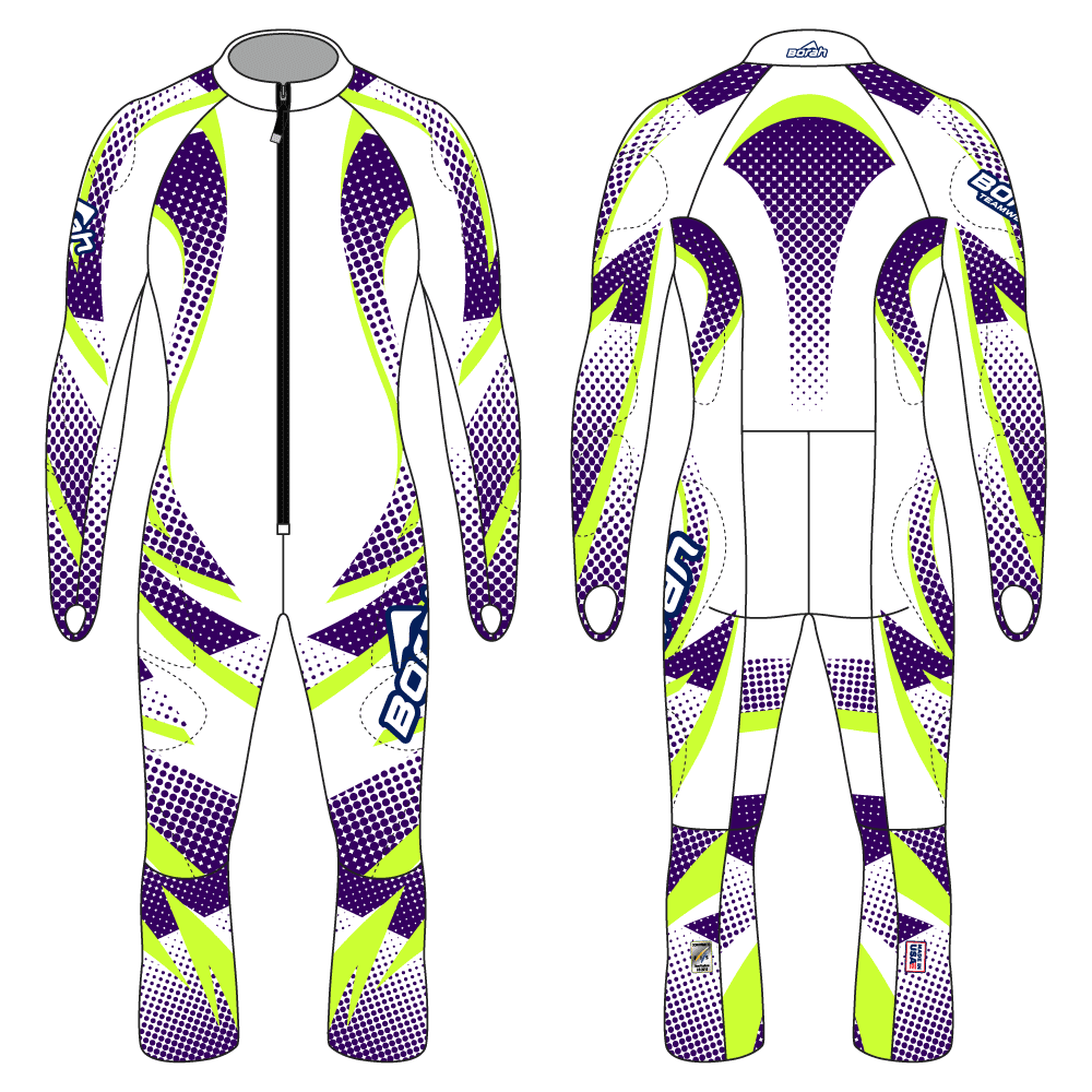 Alpine Race Suit - Avalanche Design Front and Back