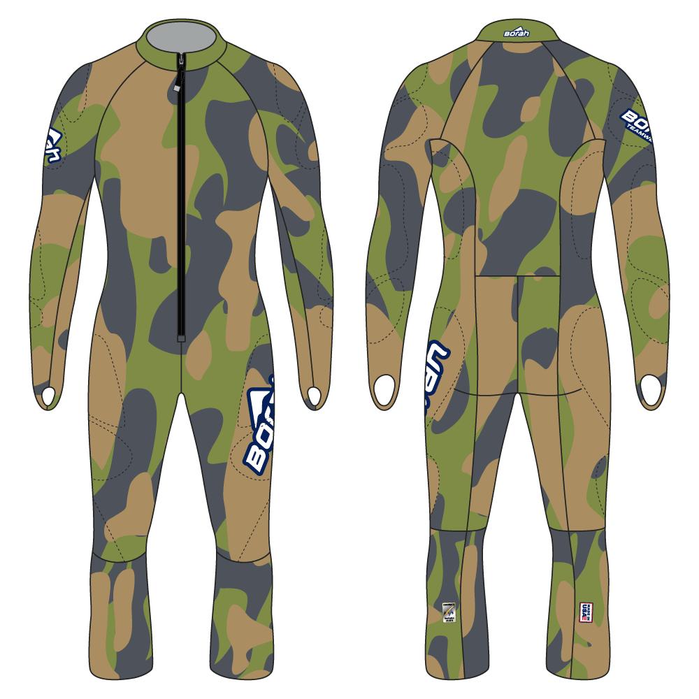 Alpine Race Suit - Camo Design Front and Back