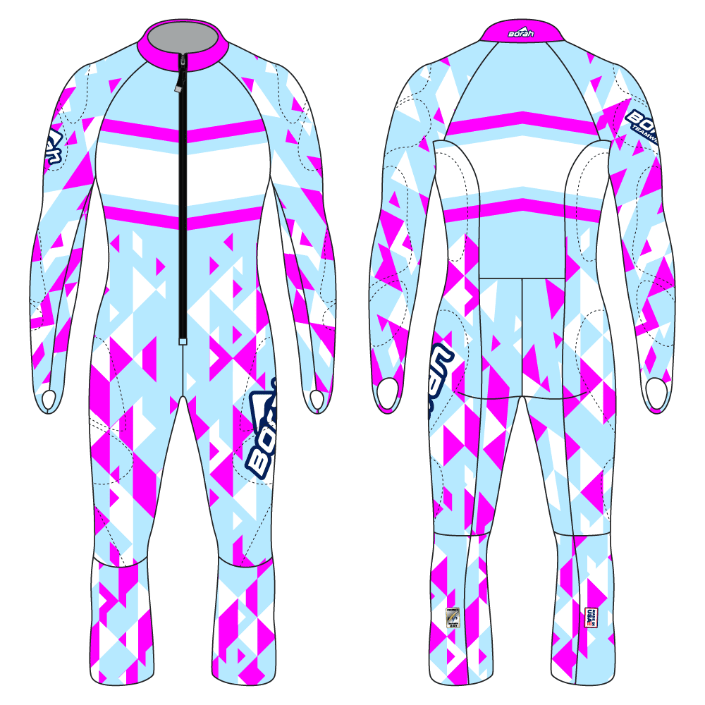 Alpine Race Suit - Downhill Design Front and Back