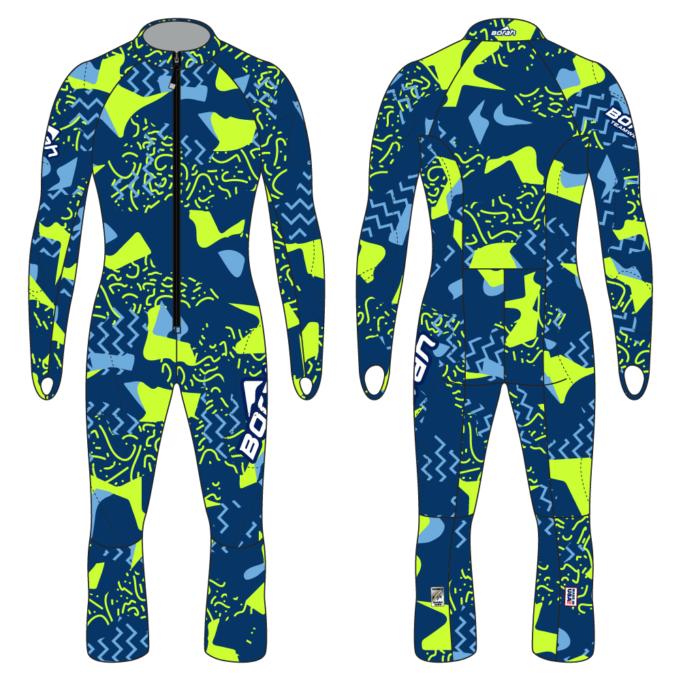 Alpine Race Suit - Rugrat Design Front and Back