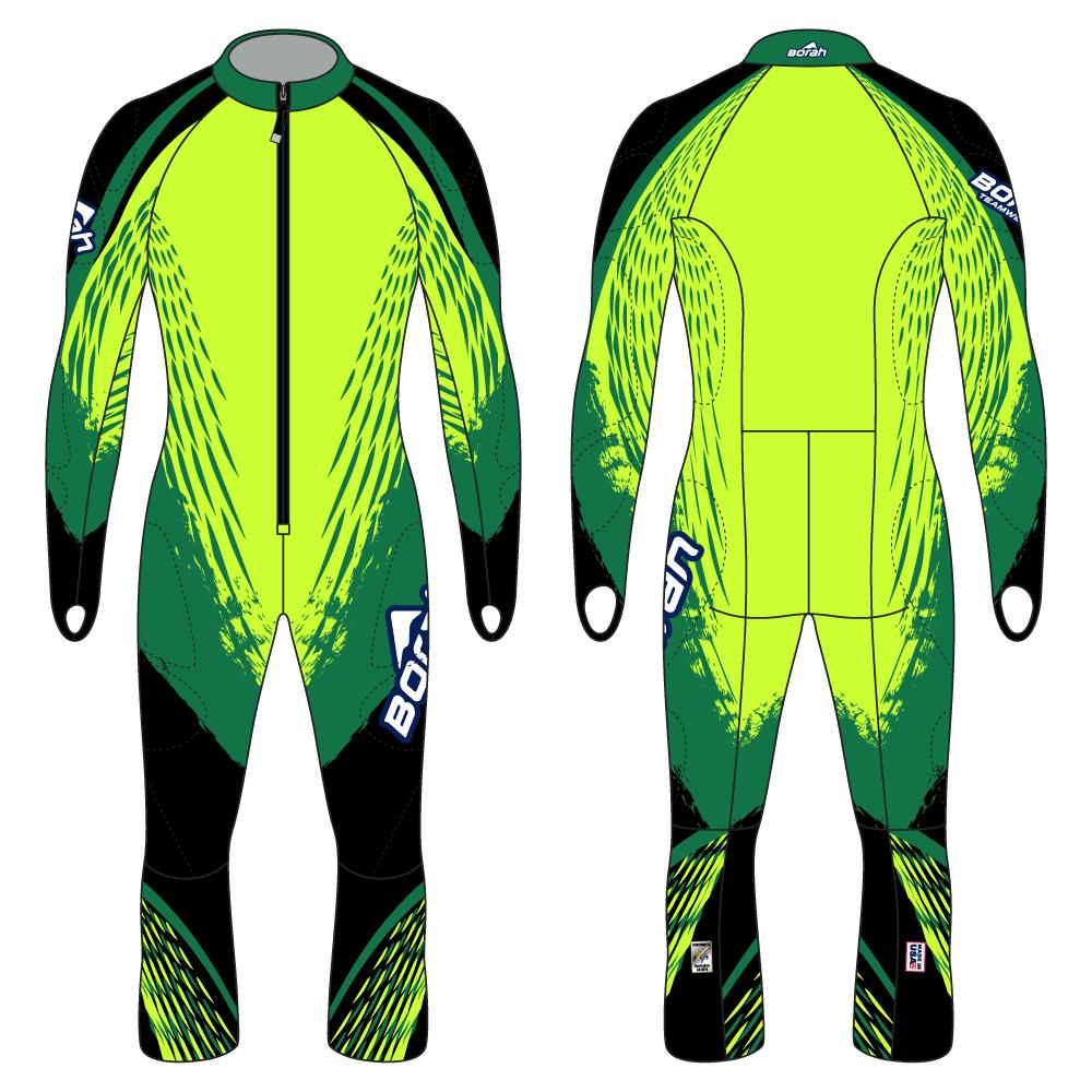 Alpine Race Suit - Super-G Design Front and Back