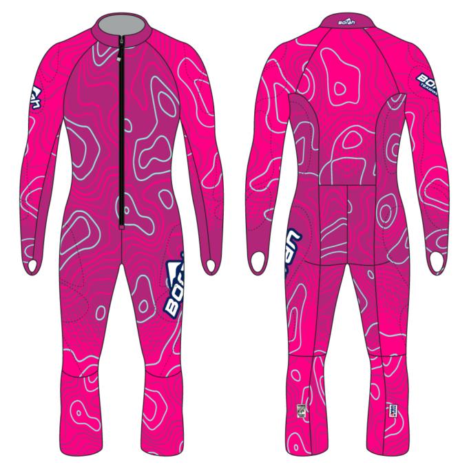 Alpine Race Suit - Terrain Design Front and Back