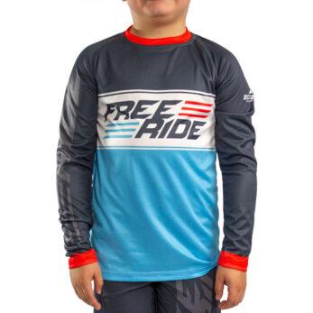 Custom Youth Freeride Long Sleeve Jersey