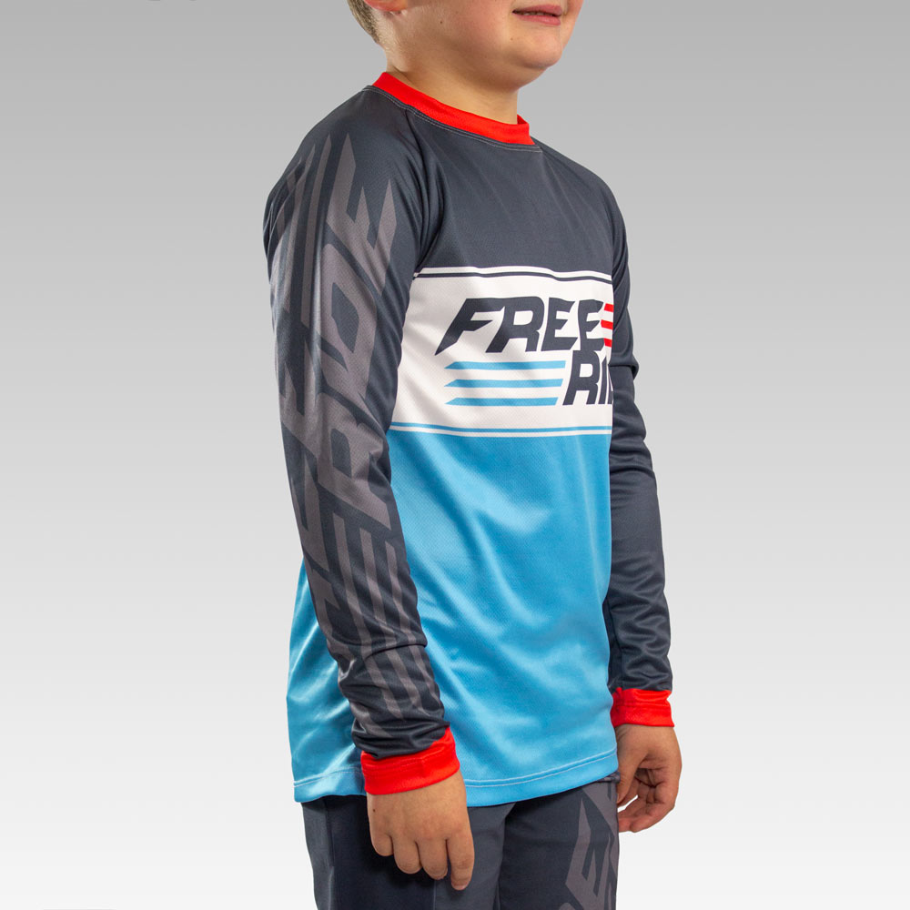 Custom Youth Freeride Long Sleeve Jersey Gallery3
