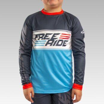 Custom Youth Freeride Long Sleeve Jersey Gallery1