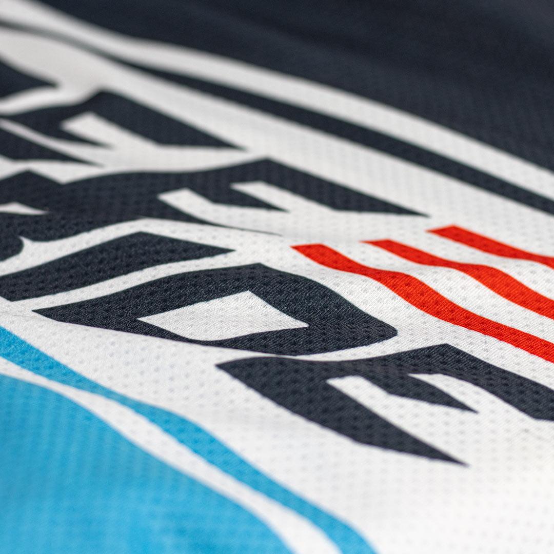 Pro Freeride MTB Jersey Fabric Detail