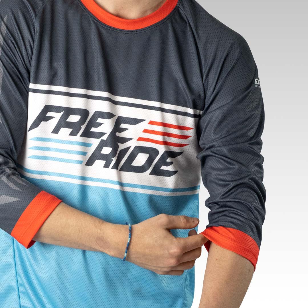 Pro 3/4 Sleeve Freeride MTB Jersey Gallery 3