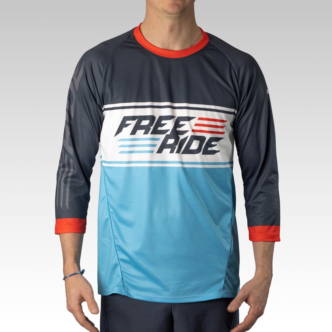 Pro 3/4 Sleeve Freeride MTB Jersey Gallery 1