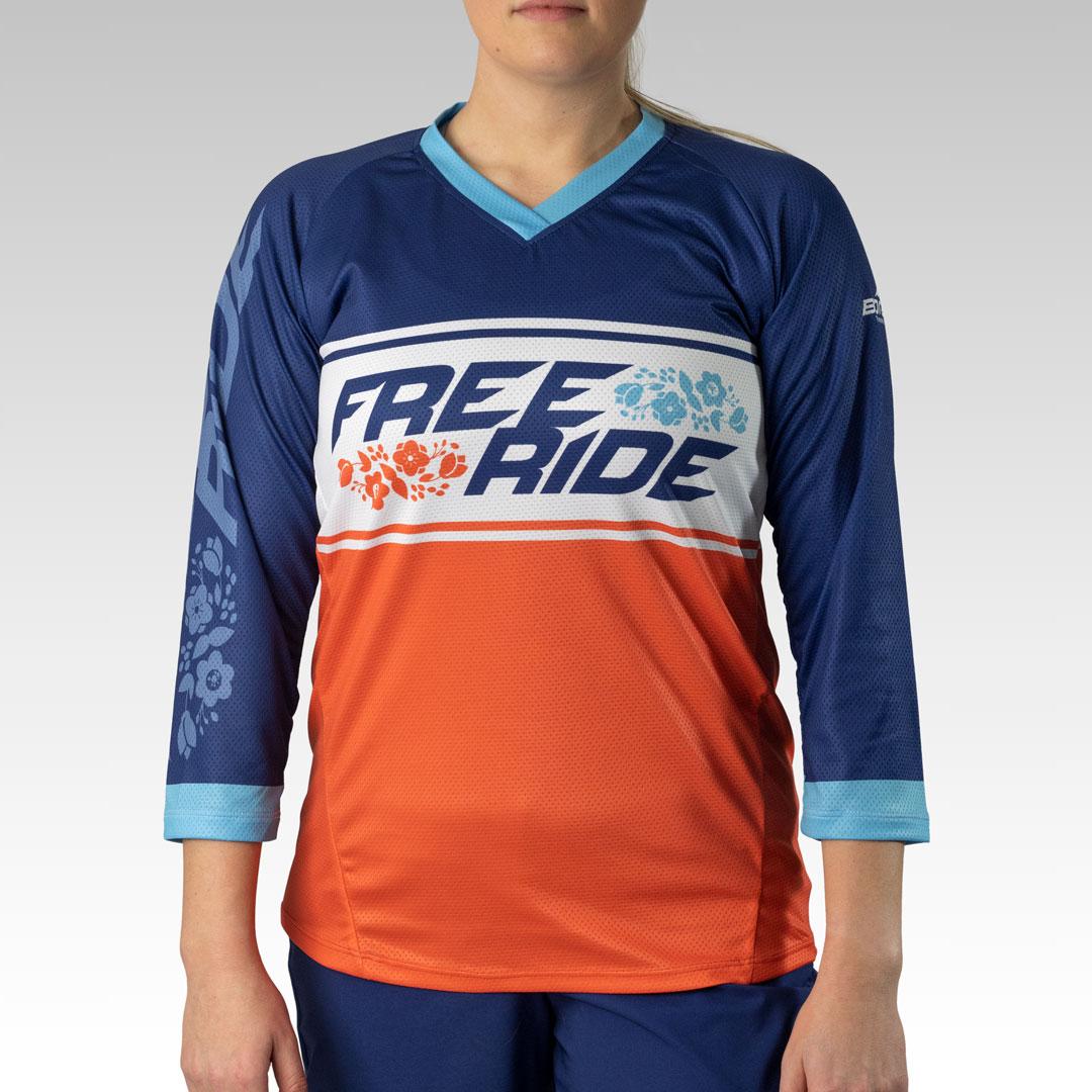 Women's Pro 3/4 Sleeve Freeride MTB Jersey Gallery2